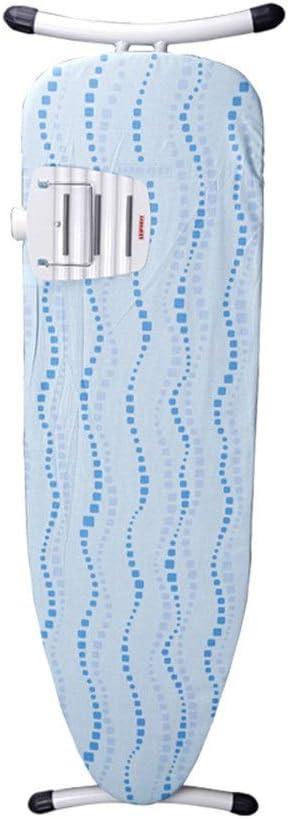 BTTNW HO Tabla De Planchar Ultraligero Tabla de Planchar Tabla de Planchar Plegable Grande Reforzado Gravedad Diseño Equilibrio Juego para Planchar La Ropa (Color : Azul, Size : 153x7x40cm)