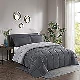 2pc Down Alternative Comforter Set -All Season Reversible Comforter with Sham -Quilted Duvet