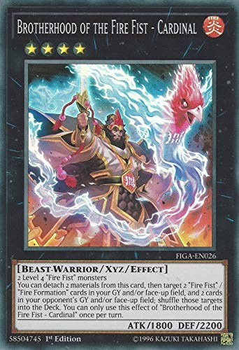 Yu-Gi-Oh! - Brotherhood of The Fire Fist - Cardinal - FIGA-EN026 - Super Rare - 1st Edition - Fists of The Gadgets