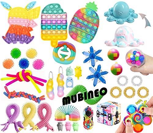 Fidget Toys Set Sensory Toys Pack Fidget Spielzeug Set Sinnes Spielzeug Packung mit Pop Spielzeug für Kinder, Schüler Familie Stress Relief Anti-Angst-Tools (Fidget Packs A4)