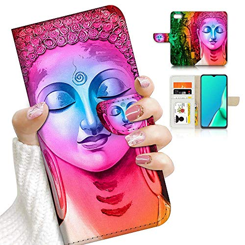 for iPhone 8 Plus, iPhone 7 Plus, Designed Flip Wallet Phone Case Cover, A23151 Abstract Buddha 23151