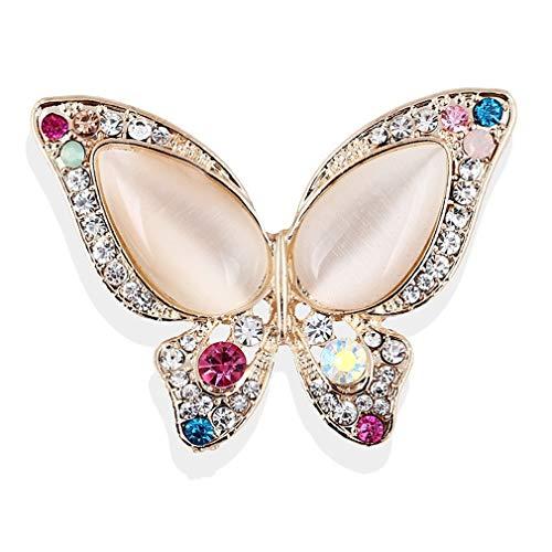 YAZILIND aleación de la imitación de Aceite de Gota de la Mariposa de la Mariposa del coito imitación Perla Broche alfiler Accesorios de la Ropa de Las Mujeres corsaje cumpleaños Regalo joyería (#10)