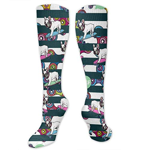 ouyjian French Bulldog And Spinners Casual Sports Socks Athletic Sport Tube Stockings