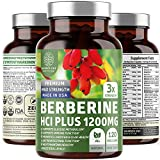 N1N Premium Berberine Plus 120 Caps, 1200mg [Non-GMO, US Made] Natural Supplement Supports Anti-Aging, Cellular Health, Energy, Blood Sugar, Digestion & Weight Loss Management