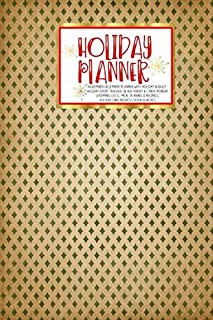Holiday Planner: Vintage Christmas | Thanksgiving | Calendar | Holiday Guide | Budget | Black Friday | Cyber Monday | Receipt Keeper | Shopping List | ... Card Address | Women | Wife | Mom | Gift