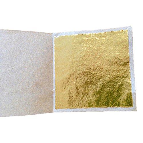 100 Blatt Blatt Imitation Blattgold, für Kunst, Vergoldung Handwerk, Dekoration, Möbel, 8 x 8,5 cm