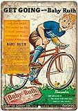 Curtiss Baby Ruth Candy Bar Dextrose Cartel de chapa vintage, cartel de cartel de metal, placa de pintura de hierro retro, decoración de pared artística, 12 × 8 pulgadas