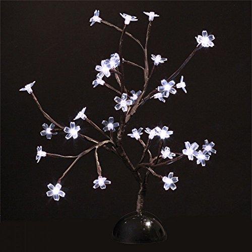 Arbre lumineux 32 led fleurs Blanche à piles