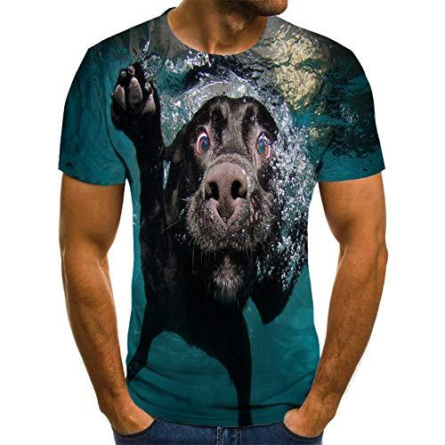 FANGDADAN 3D T-Shirt,Unisex Novelty Crewneck Camiseta Divertida Personalidad Animal Gráfico Verano Casual Moda Creativa Camisa para Hombres Y Mujeres Más Tamaño tee Top, Buceo, Medio
