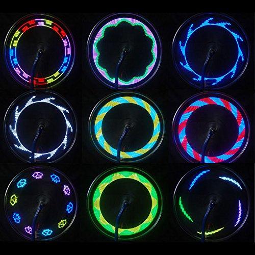 FENSIN Fahrradbeleuchtung 14 LED Motorrad Radfahren Fahrrad Fahrrad Rad Signal Reifen Speichen Licht 30 Änderungen wasserdichte Fahrradlampe Superhelle für Nachtfahrer, Radfahren und Camping