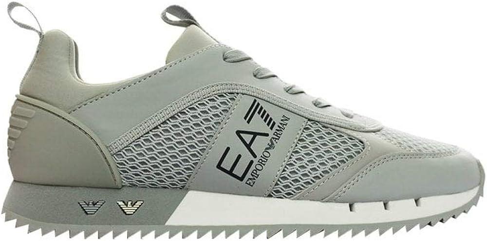 Emporio armani ea7,scarpe sneakers per uomo,in mesh tecnico e poliuretano, ecocamoscio X8X027 XK050A