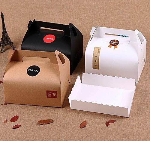 Scatole regalo Chilly, scatola regalo decorativa, set di 10scatole decorative per prodotti da forno, torte, cupcake, biscotti e cioccolatini, vassoi e 37adesivi inclusi (3colori)