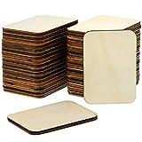Bright Creations - Sagoma rettangolare in legno grezzo, per fai da te 36-pack Rectangle Wood Cutouts
