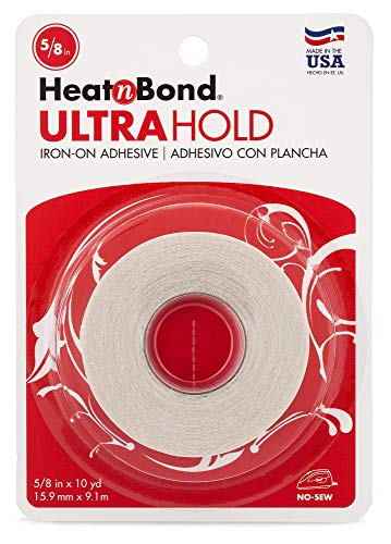 HeatnBond UltraHold Iron-On Adhesive, 5/8 Inch x 10 Yards