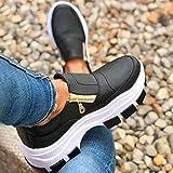 Zapatos de moda para mujer Cómodo diseño de cremallera lateral Zapatillas de...