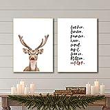 Weihnachten Wandkunst Bilder Poster und Drucke Rentier