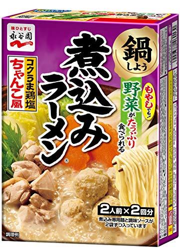 永谷園 煮込みラーメン コクうま鶏塩ちゃんこ風 (2人前×2回分) ×6個