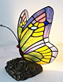 Tiffany lamp Butterfly Blue Glass HMJ8060 Stained Glass Style Butterfly Table lamp、Robert Louis Tiffany