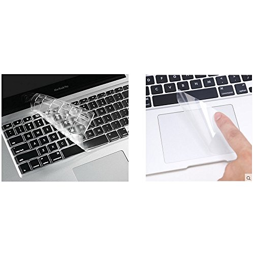 i-Buy High Clear TPU Keyboard Cover Film for Macbook Air 13 Pro 13 Pro 15+ Touchpad Protector[teclado QWERTY español]- TPU Clear