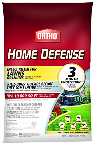 Best home insecticide - Ortho Home Defense Insect Killer for Lawns Granules - Treats up to 10,000 sq. ft., Lawn Insect Killer Kills Ants, Ticks, Fleas, Spiders, Centipedes & Other Listed Bugs, Fast Acting, 10 lbs.