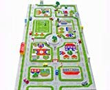 IVI Traffic 3D Play Rugs, Green, 59'L x 33'W