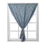 Hwj cortinas partition magic ventana cortinas opacas cortinas pegajosa del velcro cortinas for cocina y baño con abrazadera (1 panel) (color : blue, size : 1. 0×1. 5m)