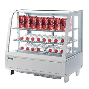 Polar Présentoir de comptoir réfrigéré Blanc 100 l