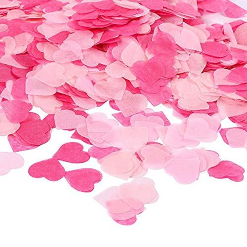 Confeti de Papel en Forma de Corazón de Color Rosa,80g Confetti Party Table Decorations Para Globos, Bodas, Día de San Valentín, Vacaciones, Decoraciones Para Fiestas de Cumpleaños