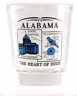 Alabama State Scenery Blue New Shot Glass