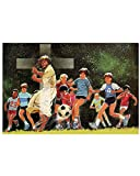 Gearsly Jesus Playing Soccer Poster No Frame Or Framed Canvas 0.75 Inch Print in Us Novelty Quote Meaningful, Motivational