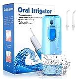 Irrigador dental portátil y impermeable IPX7 - Irrigador dental recargable y profesional con tanque 200ml y desmontable ideal para viaje y uso diario
