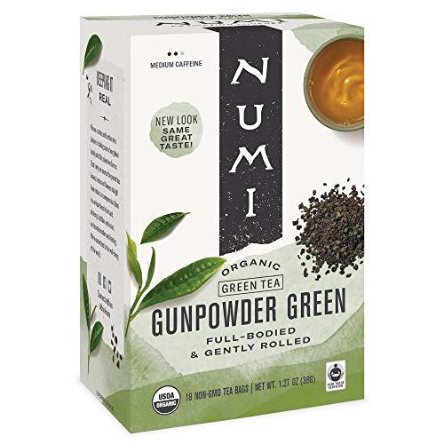 Numi Organic Tea, Gunpowder Green, Green Tea, 18 Count (Pack of 3) - Packaging May Vary