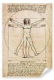 Postereck - Poster 0125 - Zeichnung Leonardo da Vinci