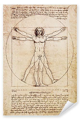 Postereck - Poster 0125 - Zeichnung Leonardo da Vinci Gesundheit Mensch Kreis - Größe 3:2 - 30.0 cm x 20.0 cm