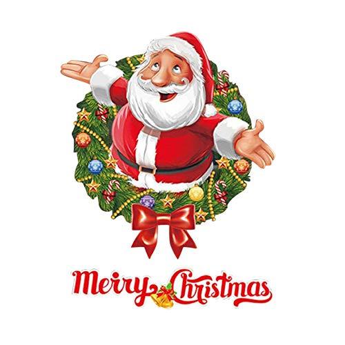 Stickers muraux Noël, Stickers muraux Père Noël BZLine décor de fenêtre/Mur / Porte