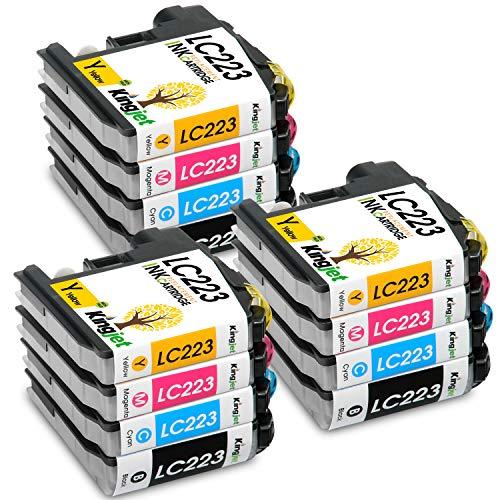 Kingjet 12 Stück LC223 Ersatz für Brother LC223 Druckerpatronen für Brother DCP-J4120DW DCP-J562DW MFC-J5320DW MFC-J4625DW MFC-J4620DW MFC-J5720DW MFC-J480DW MFC-J5620DW MFC-J4420DW MFC-J5625DW