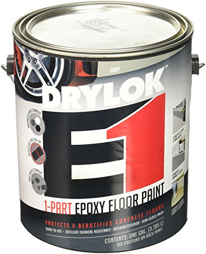 UNITED GILSONITE LAB 23713 Drylok, Gallon, Gray E1 Epoxy Semi-Gloss Floor Paint