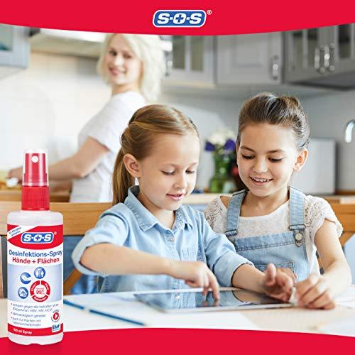 SOS Desinfektions-Spray: Desinfektionsmittel zur gründlichen und schnellen Hand- & Flächendesinfektion, 2 x 100ml - 3
