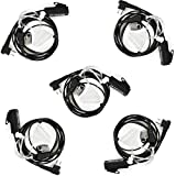 Retevis Walkie Talkies Earpiece with Mic Big PTT 2 Pin Acoustic Tube Headset for Motorola CLS1110 GP2000 CLS1410 CP100 RMV2080 Two Way Radio (5 Pack)