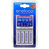 Cargador rápido Panasonic eneloop BQ-CC55E incl. 4x Pilas Recarg. Panasonic eneloop AA 1900mAh