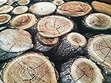 LushFabric Holzscheiten-Effekt, Baum Stumpf Material