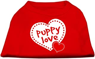 Mirage Pet Products Puppy Love Screen Print Shirt Red Small