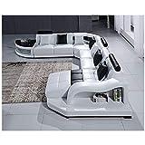 Winpavo Sofá Conjunto De Sofás Sofá De La Esquina Sofá Modular Juego De Sofás para Muebles De Sala De Estar Juego De Sofás De Cuero De Diseño De Lujo-Una