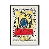 Joan Miró exhibió carteles y grabados abstractos nórdicos retro, cuadros murales famosos, lienzos familiares sin marco A 40x60cm
