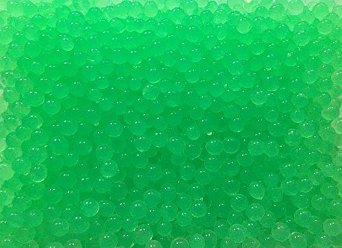 10 Liter Wasser Bällchen Kugeln Dekoration Perlen über 4.000 Stück (100Gramm) - Pflanzen Blumen Dekoration Tischdeko Deko & Raumluft Befeuchter (Grün)