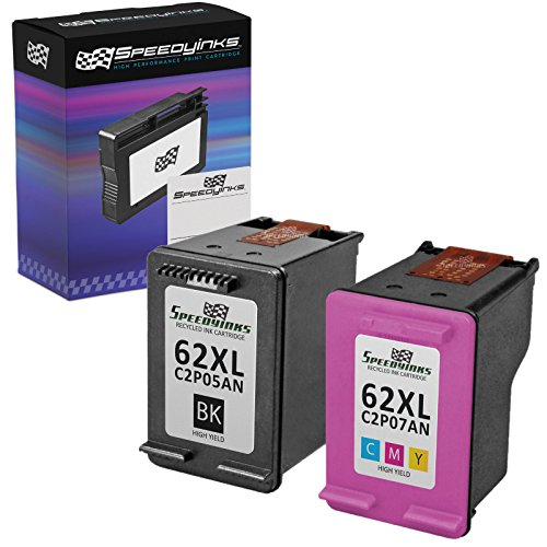 Speedy Inks Remanufactured Ink Cartridge Replacement for HP 62XL High Yield (1 Black, 1 Color, 2-Pack)