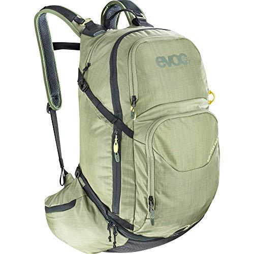 EVOC EXPLORER PRO 30l Rucksack Tourenrucksack für Bike-Touren und Trails (Riesiger 30 Liter Stauraum, durchdachtes Taschenmanagement, AIRFLOW CONTACT System, inkl. Regenhülle), Olive