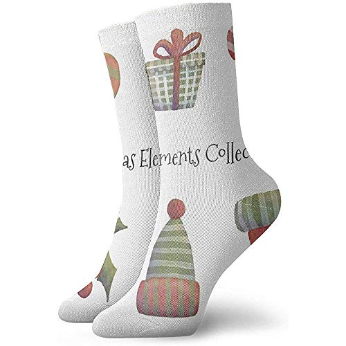 Kevin-Shop Cute Christmas Elements Collection Calcetines Tobilleros Calcetines Casuales y acogedores para...