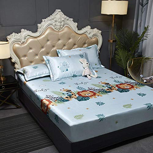 JRDTYS Super Soft Warm and Cosy Fitted Bed SheetThe bed cover is machine washable and non-slip-08_135cmx200cm+30cm