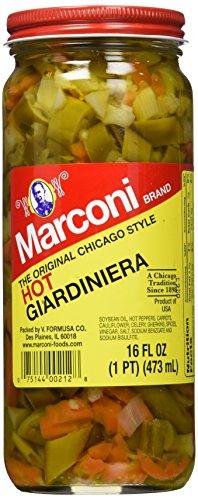 Marconi Hot Giardiniera, 16 Ounce